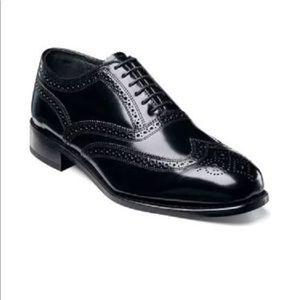 Florsheim Lexington Wing Tip Black Shoes SZ 10D